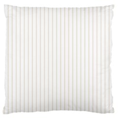 Classic Cream Pin Stripes on White Large Flano Cushion Case (Two Sides)