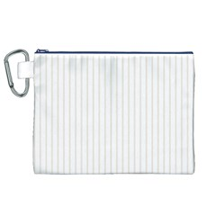 Classic Cream Pin Stripes on White Canvas Cosmetic Bag (XL)