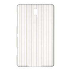 Classic Cream Pin Stripes on White Samsung Galaxy Tab S (8.4 ) Hardshell Case