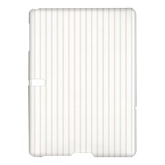 Classic Cream Pin Stripes on White Samsung Galaxy Tab S (10.5 ) Hardshell Case