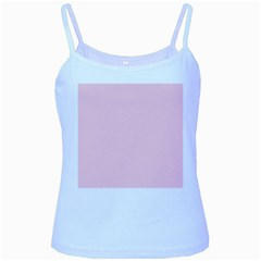 Light Soft Pastel Pink Solid Color Baby Blue Spaghetti Tank