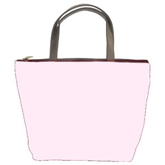 Light Soft Pastel Pink Solid Color Bucket Bags