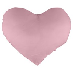 Light Soft Pastel Pink Solid Color Large 19  Premium Heart Shape Cushions