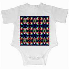Colorful Bright Seamless Flower Pattern Infant Creepers