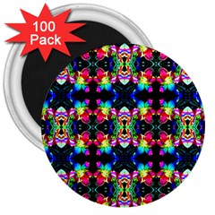 Colorful Bright Seamless Flower Pattern 3  Magnets (100 pack)