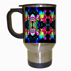 Colorful Bright Seamless Flower Pattern Travel Mugs (white)