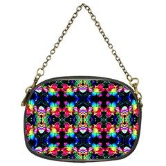 Colorful Bright Seamless Flower Pattern Chain Purses (One Side)