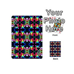 Colorful Bright Seamless Flower Pattern Playing Cards 54 (Mini)