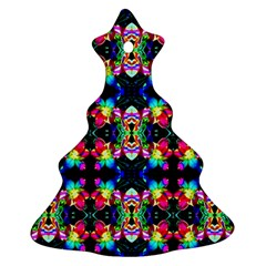 Colorful Bright Seamless Flower Pattern Ornament (Christmas Tree)