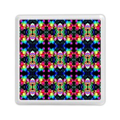 Colorful Bright Seamless Flower Pattern Memory Card Reader (Square)