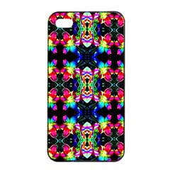 Colorful Bright Seamless Flower Pattern Apple iPhone 4/4s Seamless Case (Black)