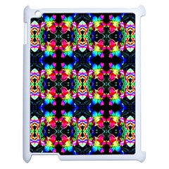 Colorful Bright Seamless Flower Pattern Apple iPad 2 Case (White)