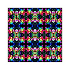 Colorful Bright Seamless Flower Pattern Acrylic Tangram Puzzle (6  x 6 )
