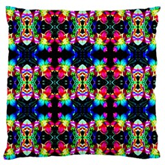 Colorful Bright Seamless Flower Pattern Large Cushion Case (One Side)