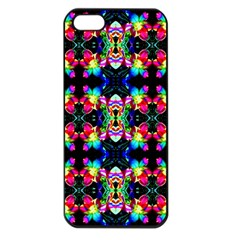 Colorful Bright Seamless Flower Pattern Apple iPhone 5 Seamless Case (Black)