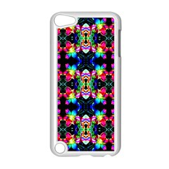 Colorful Bright Seamless Flower Pattern Apple iPod Touch 5 Case (White)