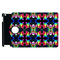 Colorful Bright Seamless Flower Pattern Apple iPad 2 Flip 360 Case