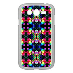Colorful Bright Seamless Flower Pattern Samsung Galaxy Grand DUOS I9082 Case (White)