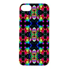 Colorful Bright Seamless Flower Pattern Apple iPhone 5S/ SE Hardshell Case