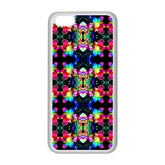 Colorful Bright Seamless Flower Pattern Apple iPhone 5C Seamless Case (White)