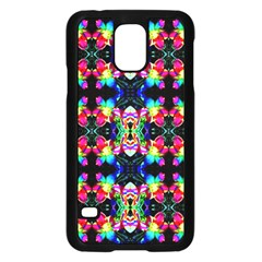 Colorful Bright Seamless Flower Pattern Samsung Galaxy S5 Case (Black)