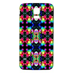 Colorful Bright Seamless Flower Pattern Samsung Galaxy S5 Back Case (White)