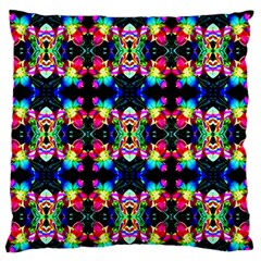 Colorful Bright Seamless Flower Pattern Large Flano Cushion Case (Two Sides)