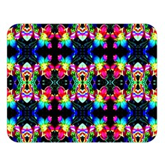 Colorful Bright Seamless Flower Pattern Double Sided Flano Blanket (large)
