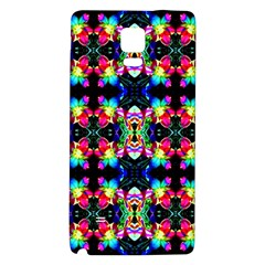 Colorful Bright Seamless Flower Pattern Galaxy Note 4 Back Case