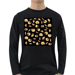 Shell pattern Long Sleeve Dark T-Shirts
