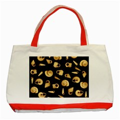 Shell Pattern Classic Tote Bag (red)
