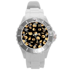 Shell pattern Round Plastic Sport Watch (L)