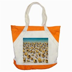 Shell Pattern Accent Tote Bag