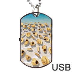 Shell pattern Dog Tag USB Flash (One Side)