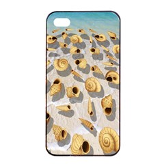 Shell pattern Apple iPhone 4/4s Seamless Case (Black)
