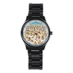 Shell pattern Stainless Steel Round Watch