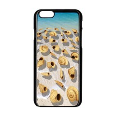 Shell pattern Apple iPhone 6/6S Black Enamel Case