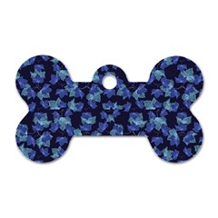 Autumn Leaves Motif Pattern Dog Tag Bone (Two Sides)