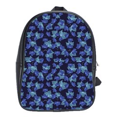 Autumn Leaves Motif Pattern School Bags(Large)