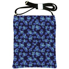 Autumn Leaves Motif Pattern Shoulder Sling Bags