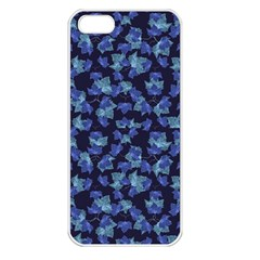 Autumn Leaves Motif Pattern Apple iPhone 5 Seamless Case (White)