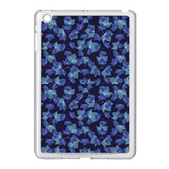 Autumn Leaves Motif Pattern Apple iPad Mini Case (White)