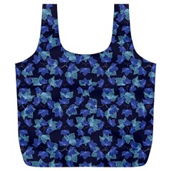 Autumn Leaves Motif Pattern Full Print Recycle Bags (L)