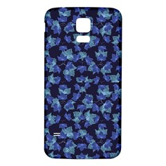 Autumn Leaves Motif Pattern Samsung Galaxy S5 Back Case (White)