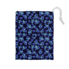 Autumn Leaves Motif Pattern Drawstring Pouches (Large)
