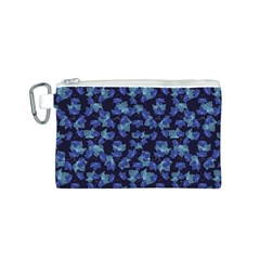 Autumn Leaves Motif Pattern Canvas Cosmetic Bag (S)