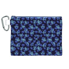 Autumn Leaves Motif Pattern Canvas Cosmetic Bag (XL)
