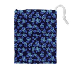 Autumn Leaves Motif Pattern Drawstring Pouches (Extra Large)