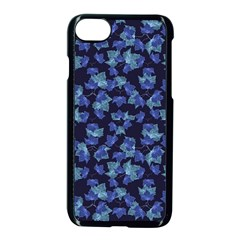 Autumn Leaves Motif Pattern Apple iPhone 7 Seamless Case (Black)