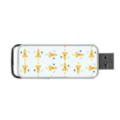 Spaceships Pattern Portable USB Flash (One Side)